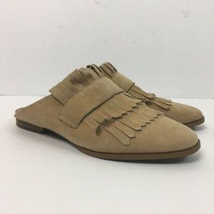 Steven Steve Madden Shoes Adee Fringe Mule Suede